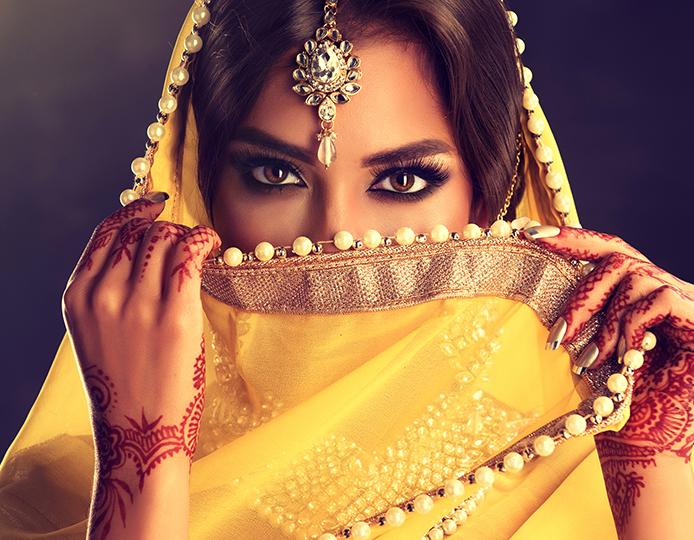 mujer de danza arabe